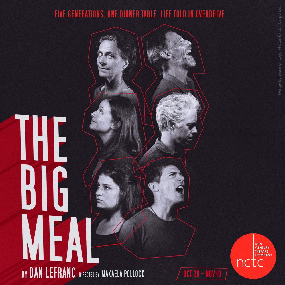 Photos for  New Century Theatre Company 's production of  The Big Meal . Design by  Shannon Loys .