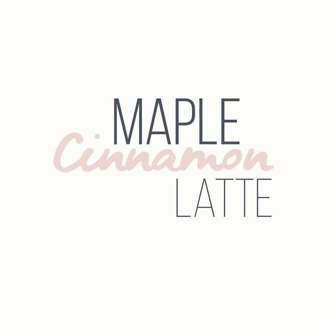 Enjoy this cooler weather a little more by grabbing a maple cinnamon latte- our signature coffee for the month of October 🍁