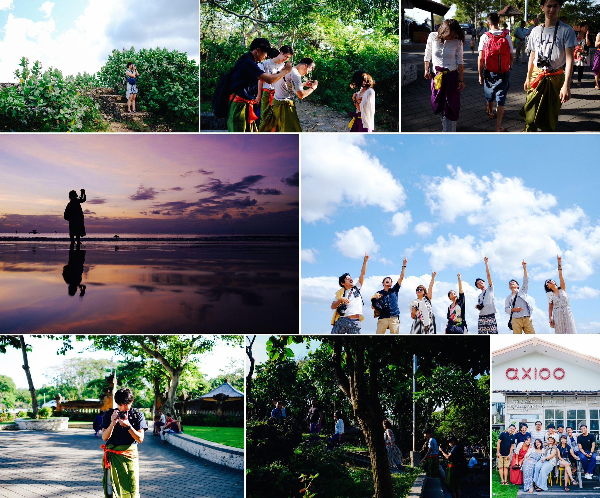 2016年8月、海外研修先のインドネシア・バリ島にて