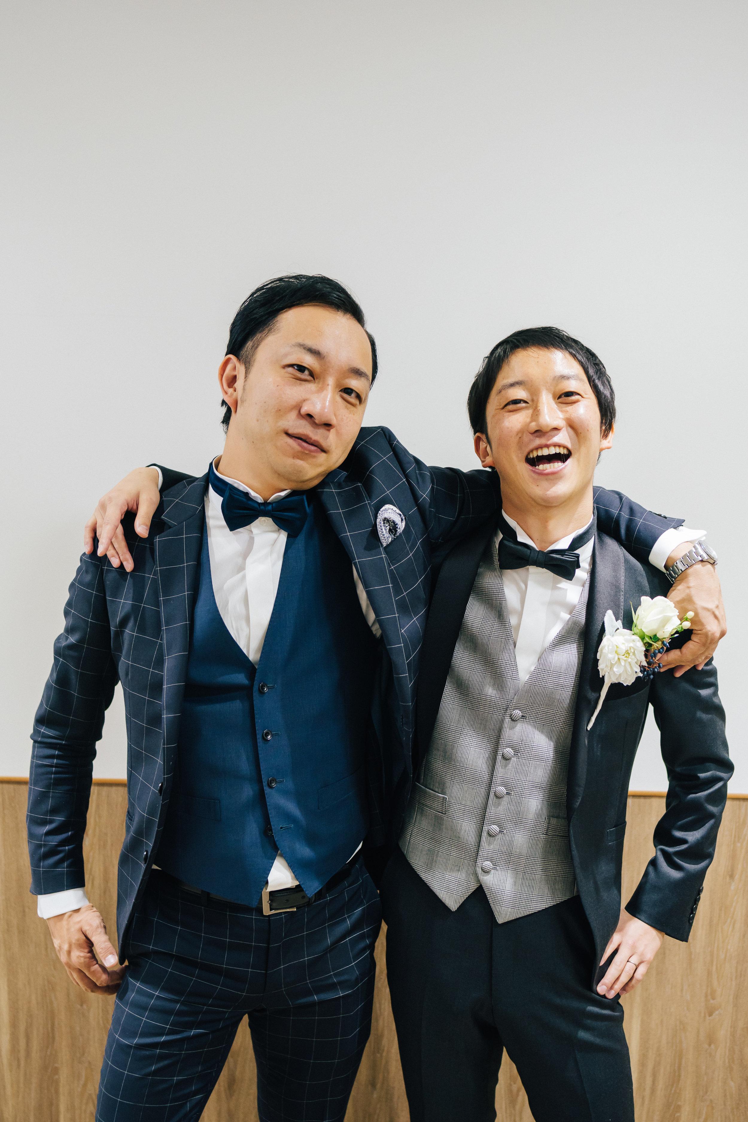 ご結婚式だからこそ撮ることのできるお写真がきっとあると思います。兄弟ショット、決まっています!