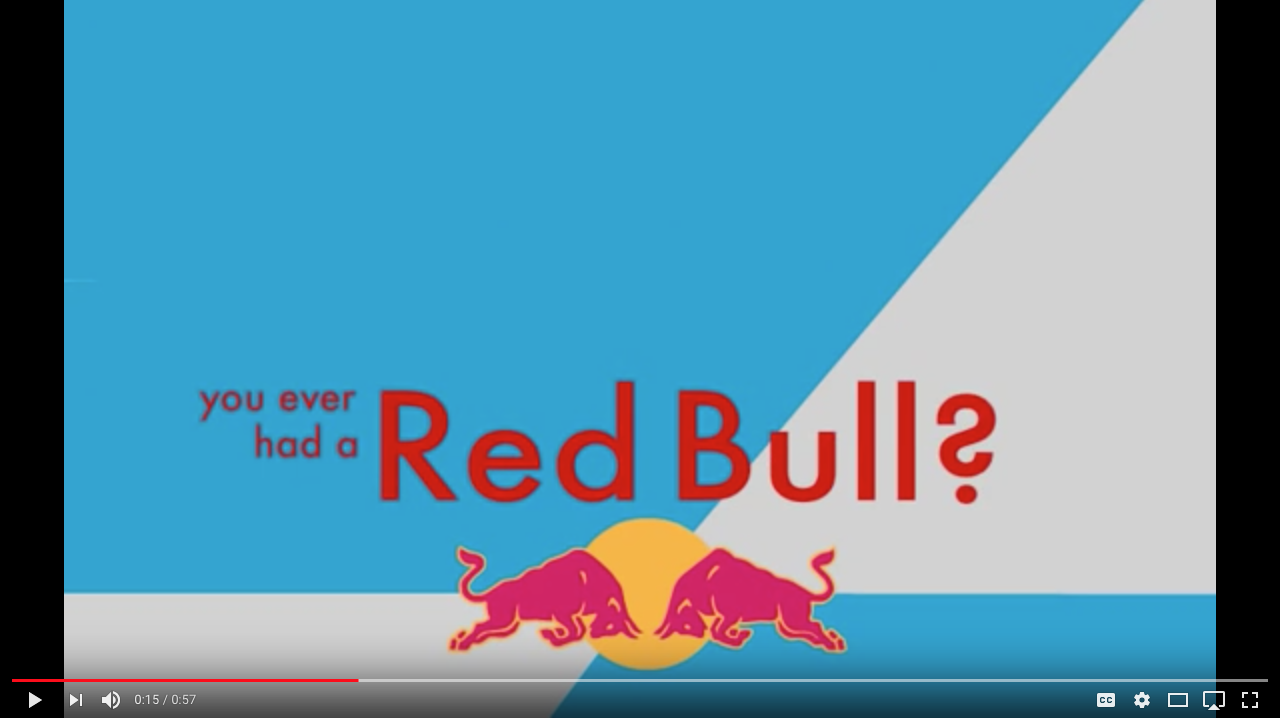 Red Bull Typography Animation