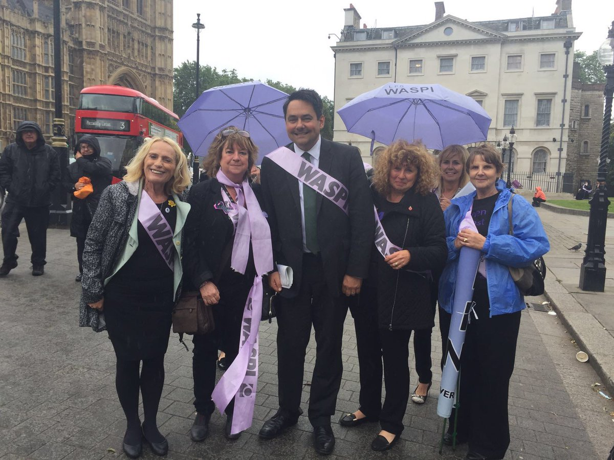Meeting WASPI campaigners in Parliament