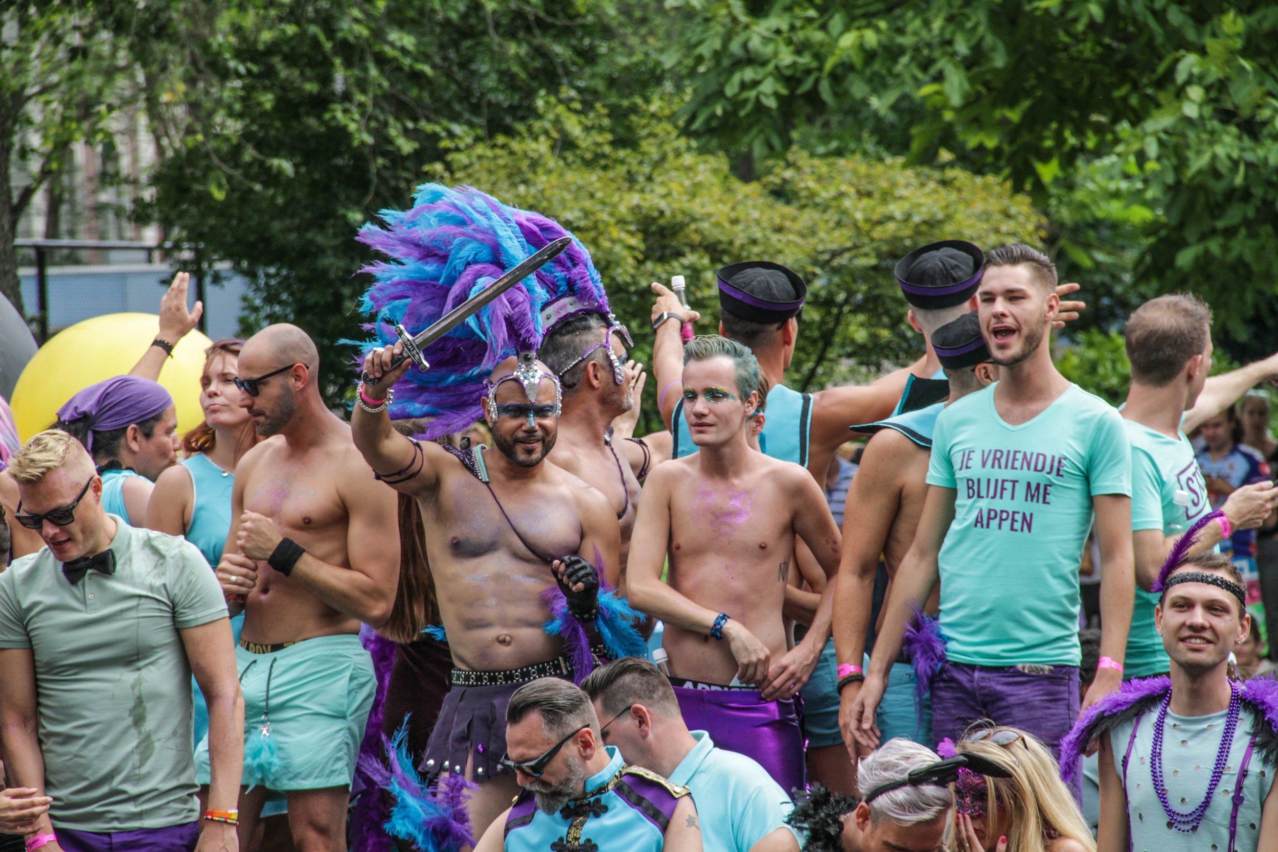 Amsterdam, Netherlands – August 5, 2017 - Gay Festival - Man w