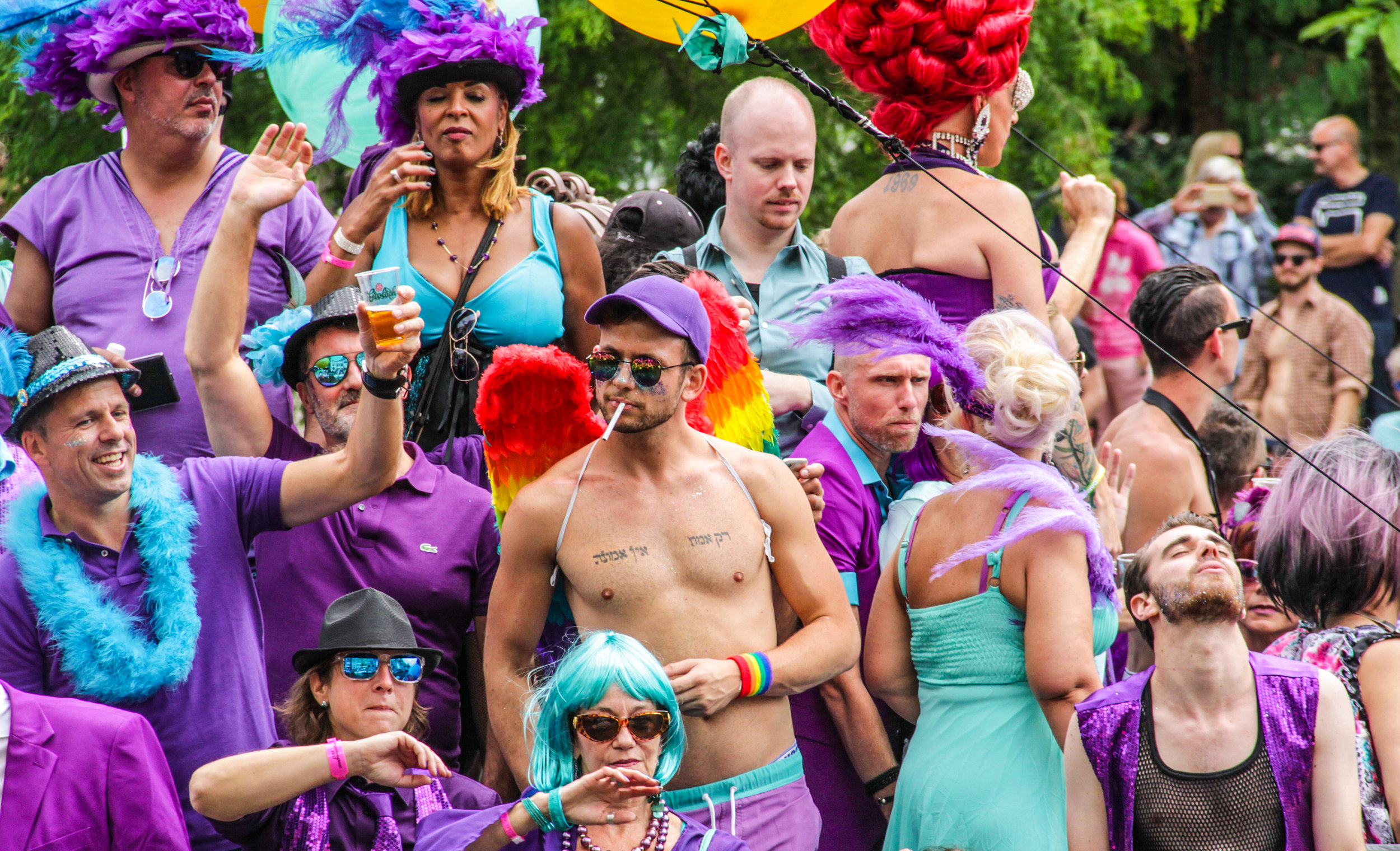 Amsterdam, Netherlands – August 5, 2017 - Gay Festival - Crow