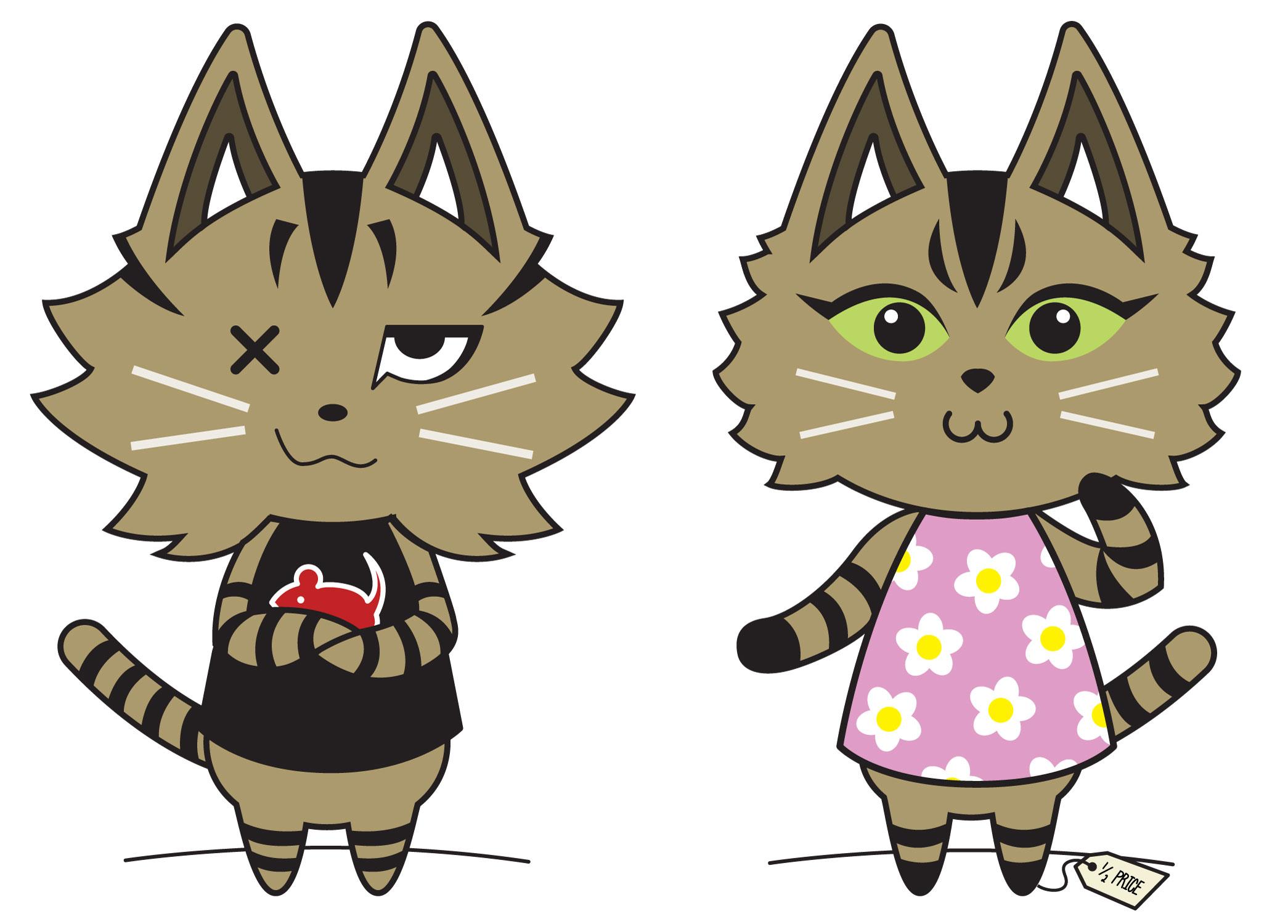 Will & Ava, Animal Crossing Style, 2015