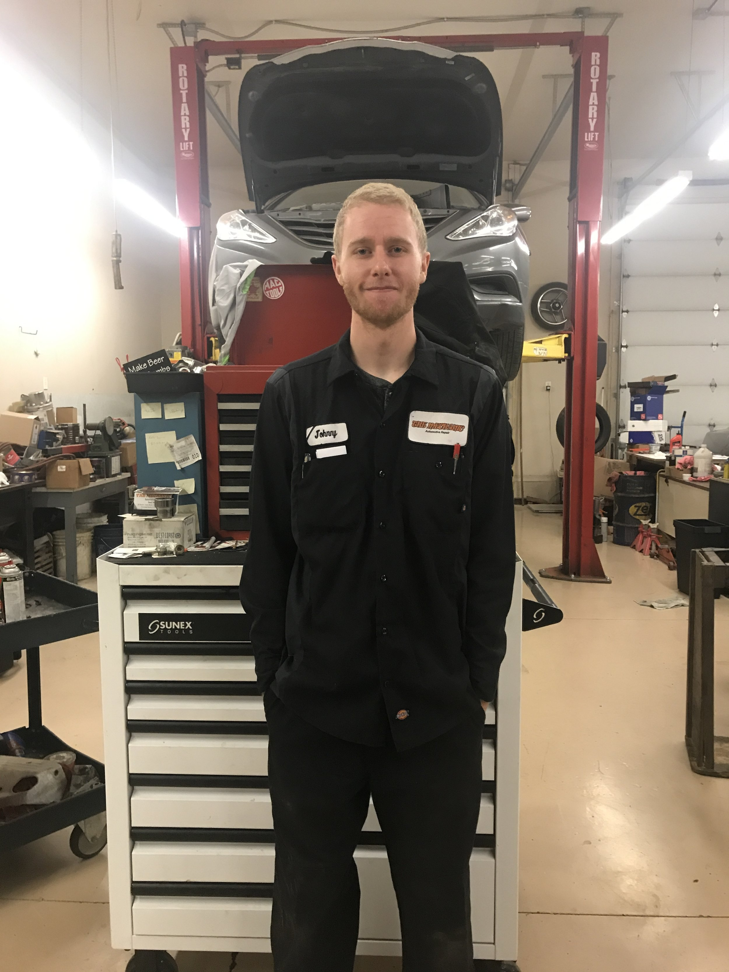 Johnny grew up in Bluffdale and graduated from Paradigm High School. He is currently working on an automotive technician degree from Salt Lake Community College.