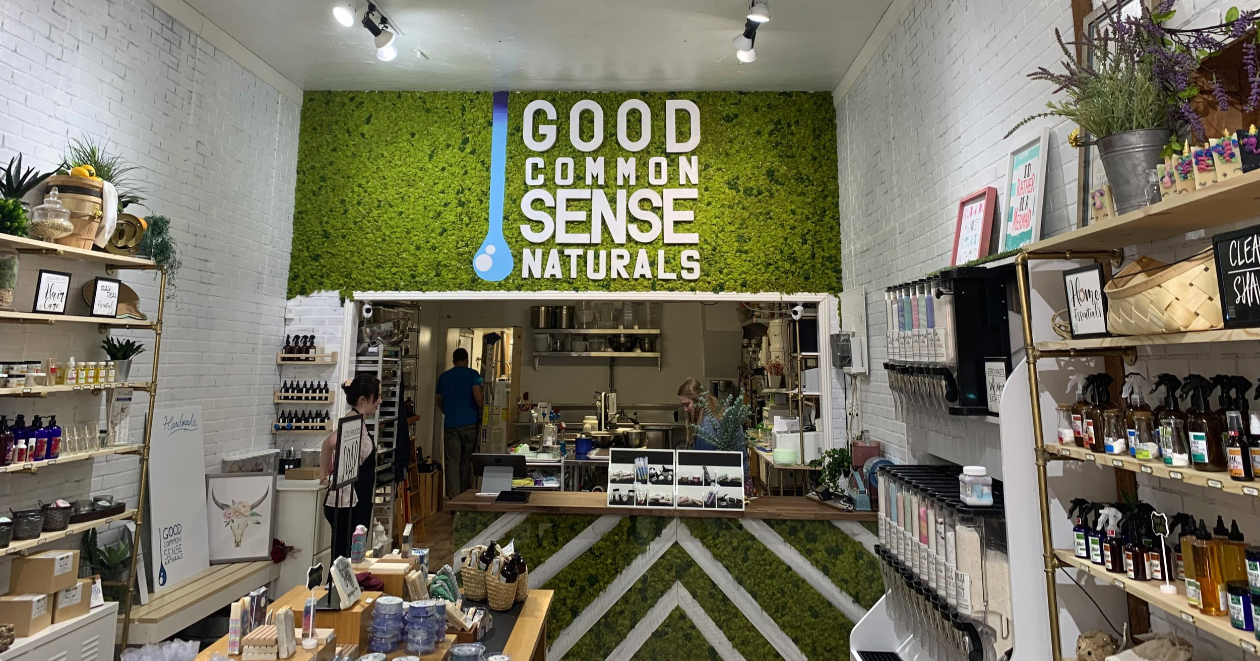 Good Common Sense Naturals' new live wall always makes me smile.