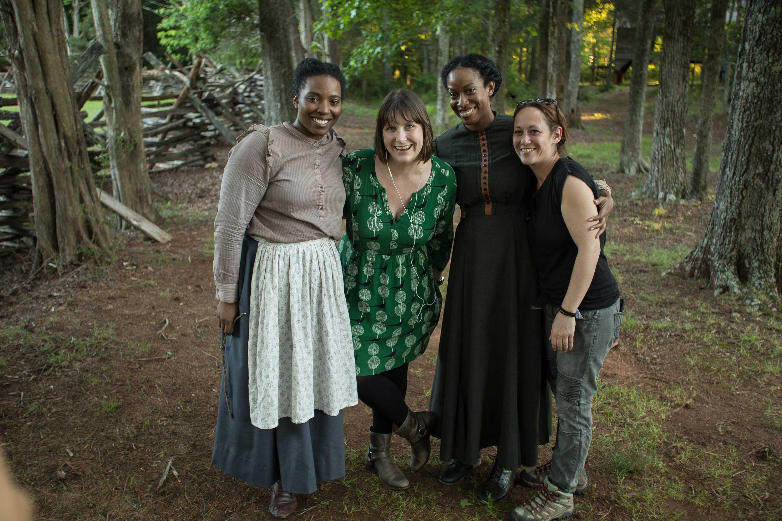 Olivia Washington, Director Ashley Brim Riddle, Mystie Smith, and Kether Abeles