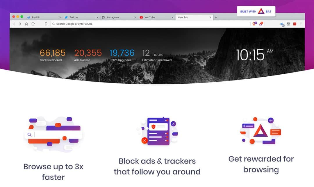 Brave Browser - Download & surf the web without risking your privacy all while earning BAT(Basic Attention Token) for viewing ads!Free Download below!