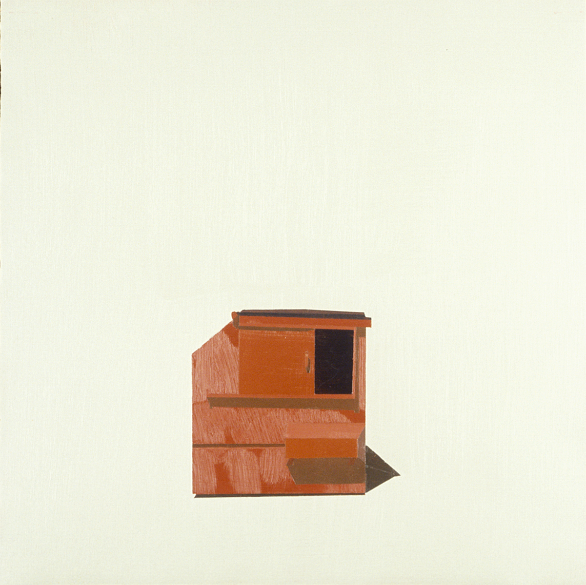CANYON REDROCK DUMPSTER IN SUBTLE TAUPE   oil on paper "