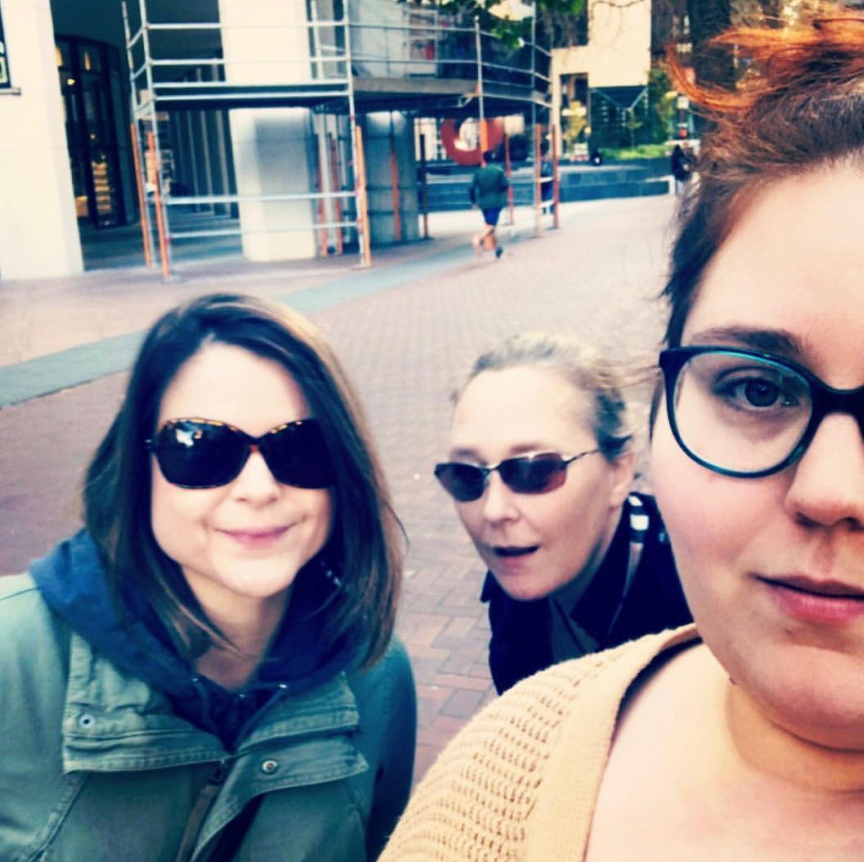 Nichole, Eileeen & Colleen on a chilly San Francisco afternoon (Dec 2017)