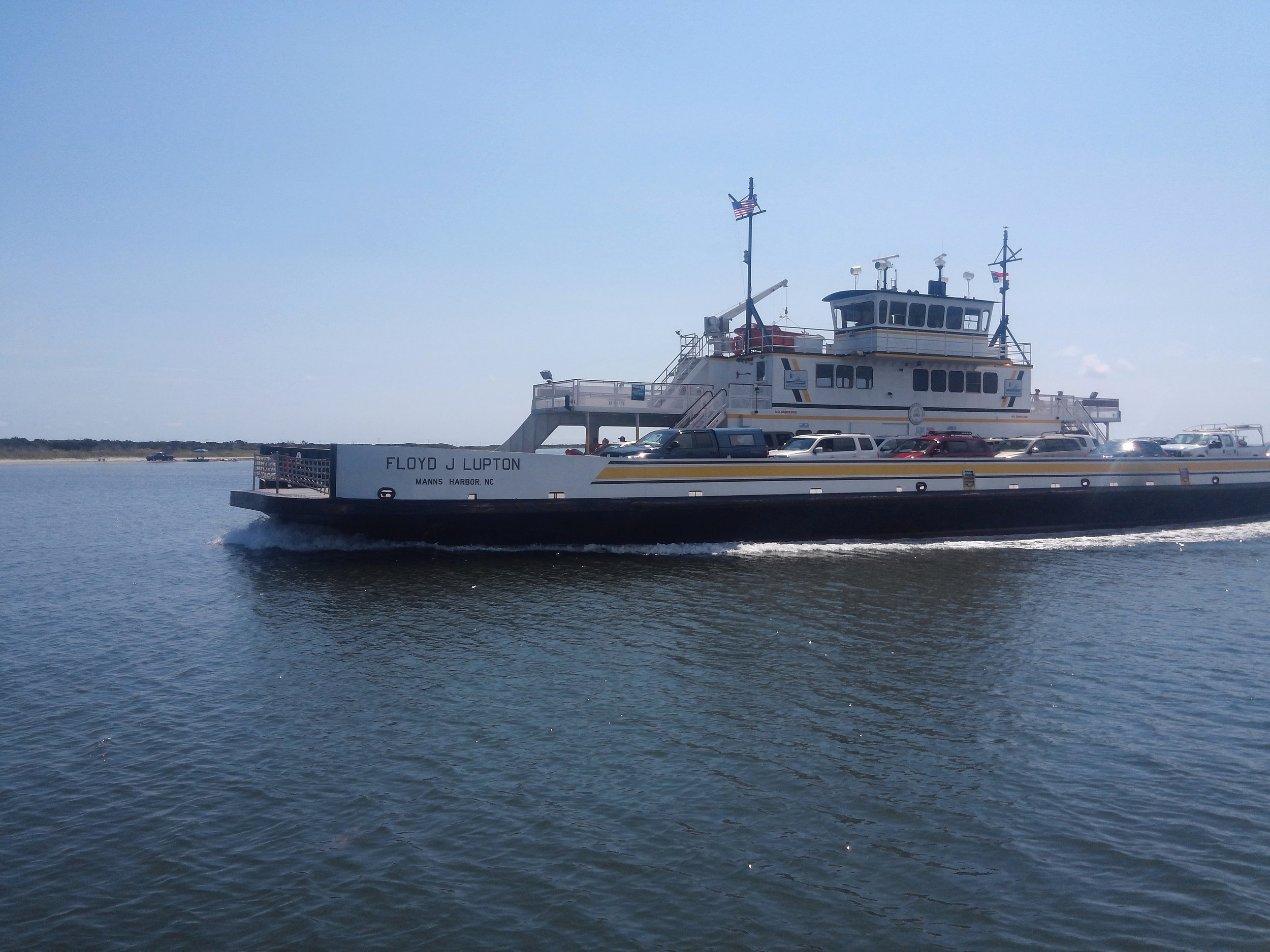 A full view of one of the ferries.