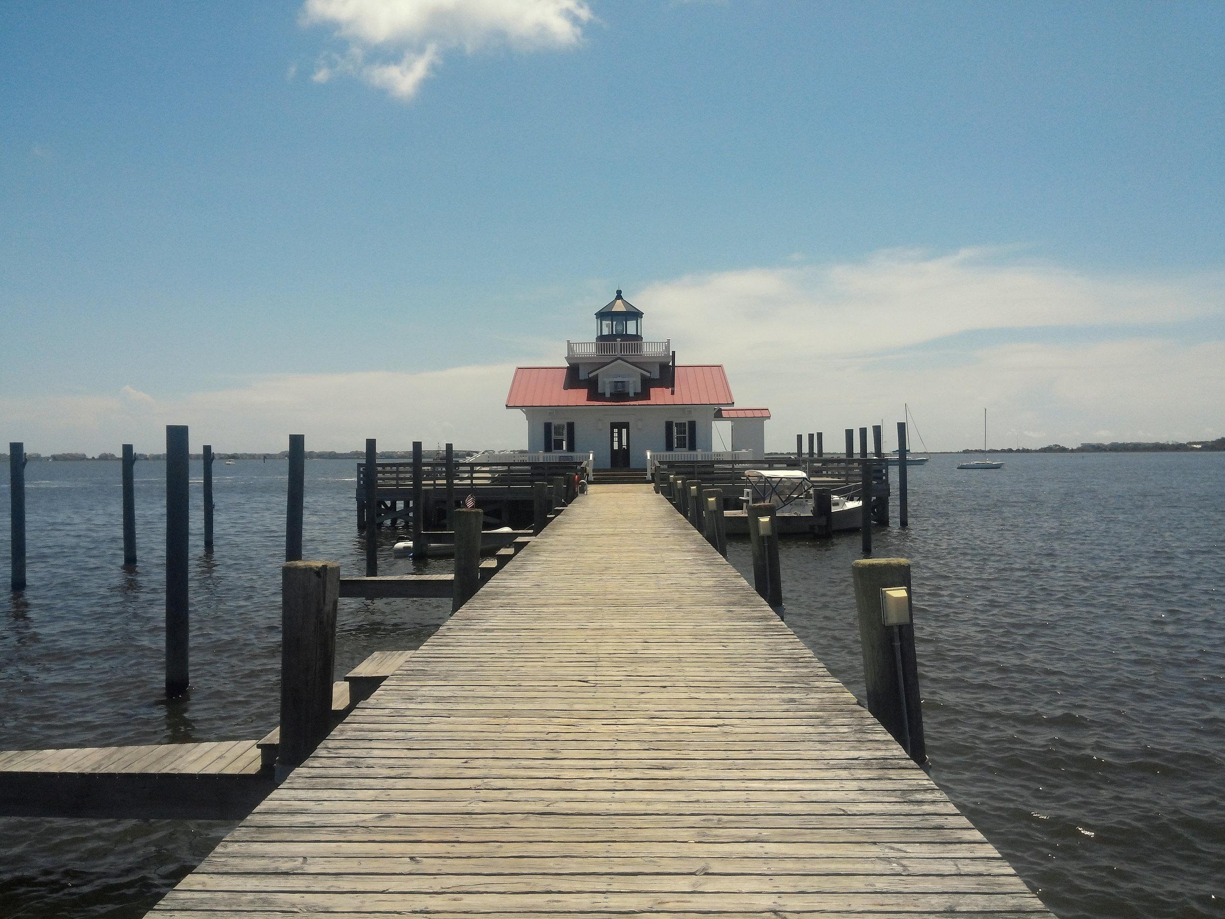 The Roanoke Marshes Lighthouse.