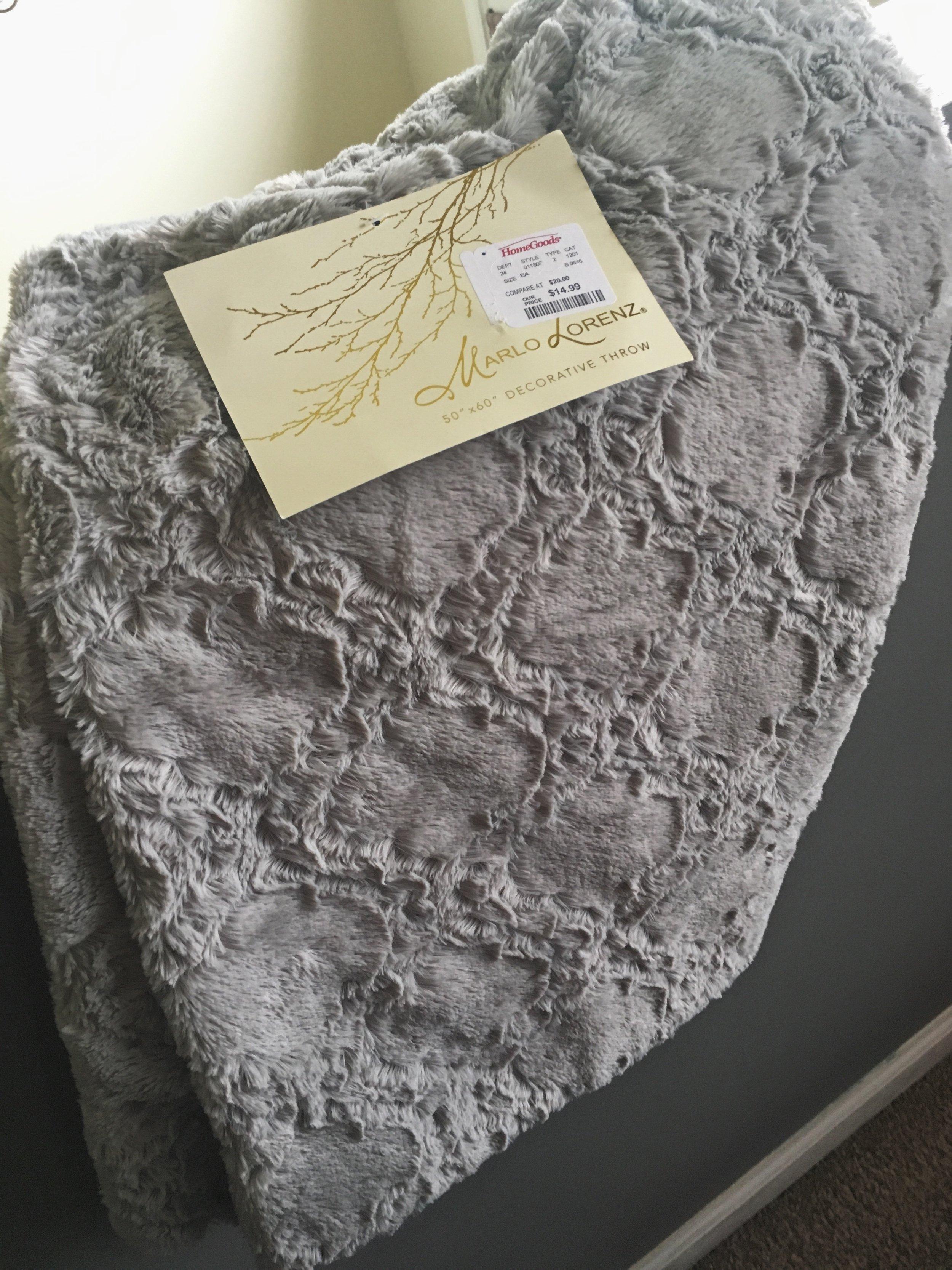 soft gray throw homegoods