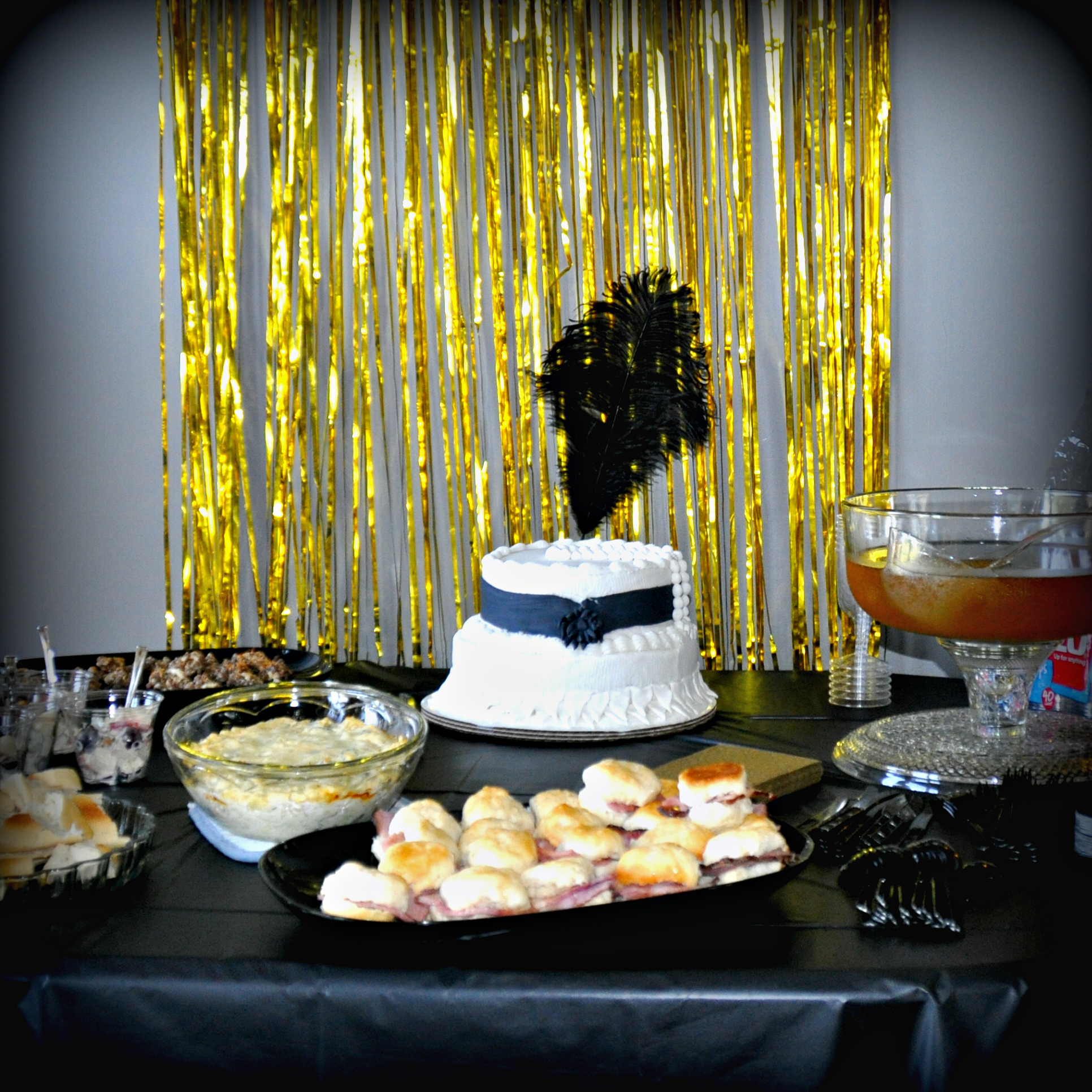 A spread of 1920's food at my sister's Bachelorette party. It was yummy, if I do say so myself!
