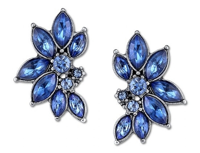 sapphire color cluster button earrings 1928 jewelry a cheerful life blog