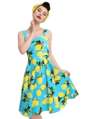 hot topic retro lemon print dress modern vintage a cheerful life blog