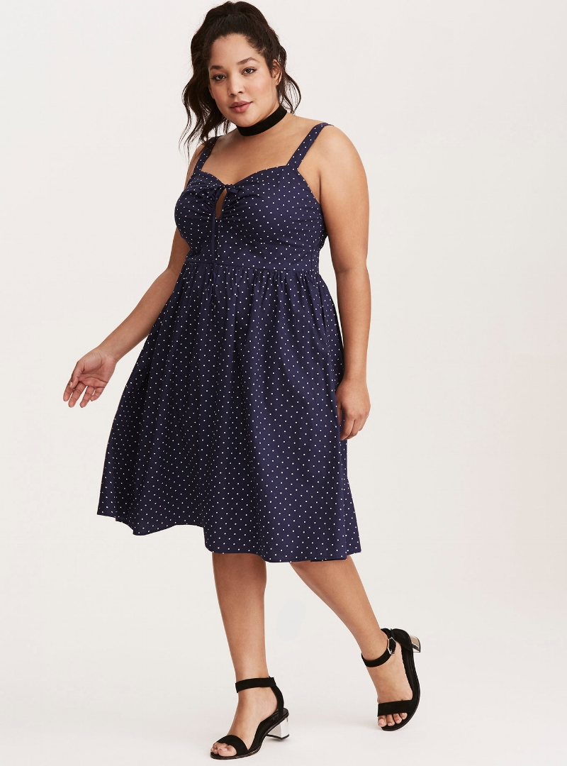 retro chic polka dot poplin swing dress modern vintage a cheerful life blog