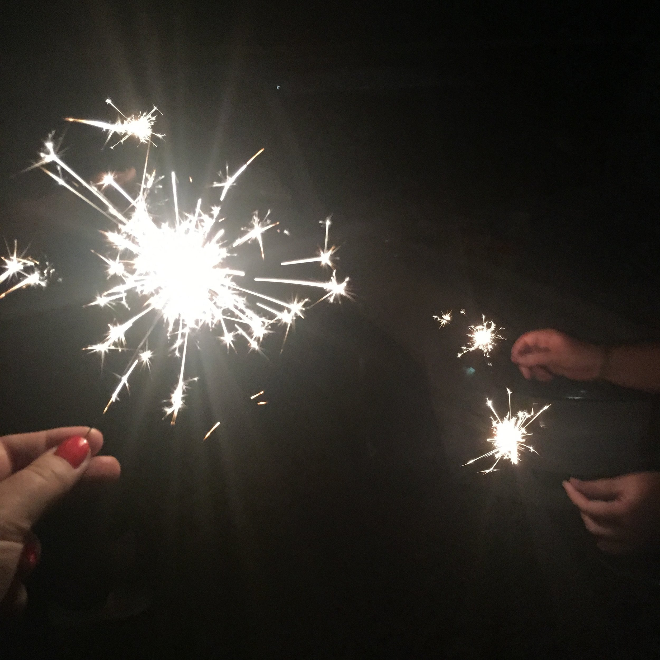 """Sparklers! I used to be really scared of these, but I've grown more brave in my """"old"""" age :)"""