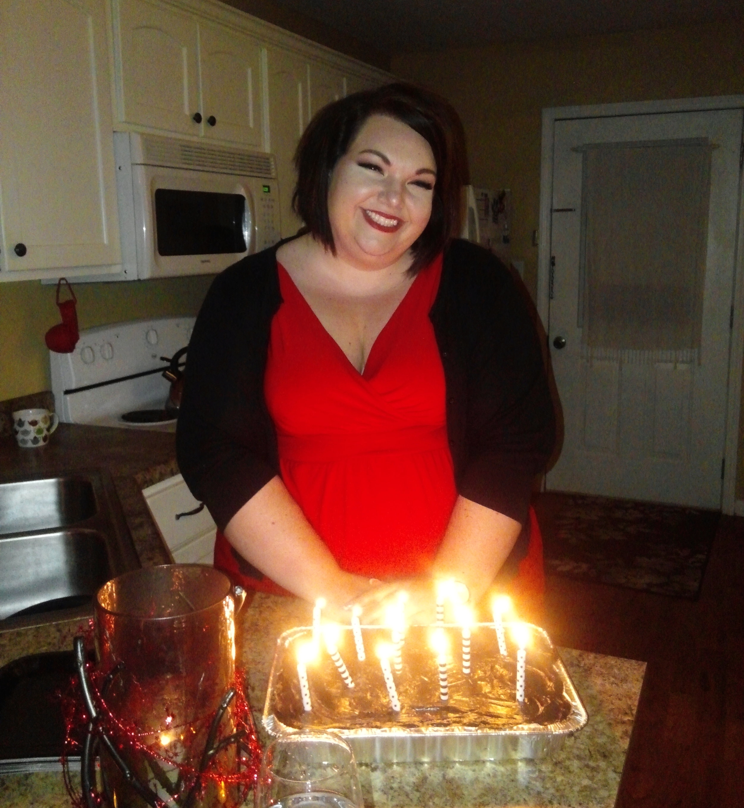 I rarely get more happy than when I have birthday cake in front of me!!