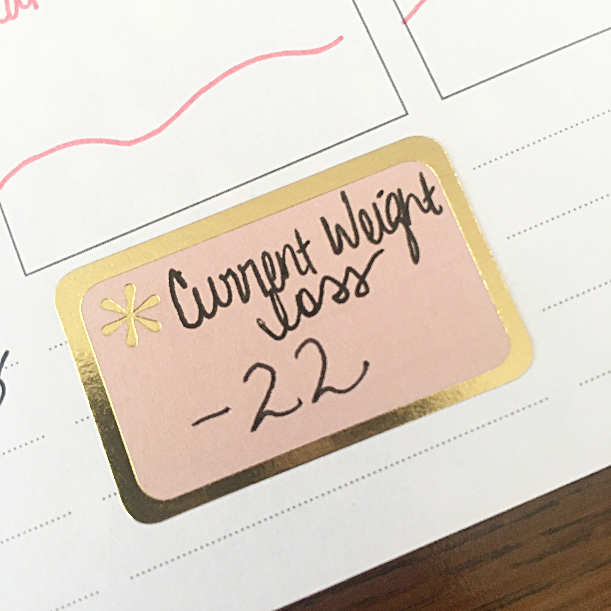Yes, I also put this in my planner! :)