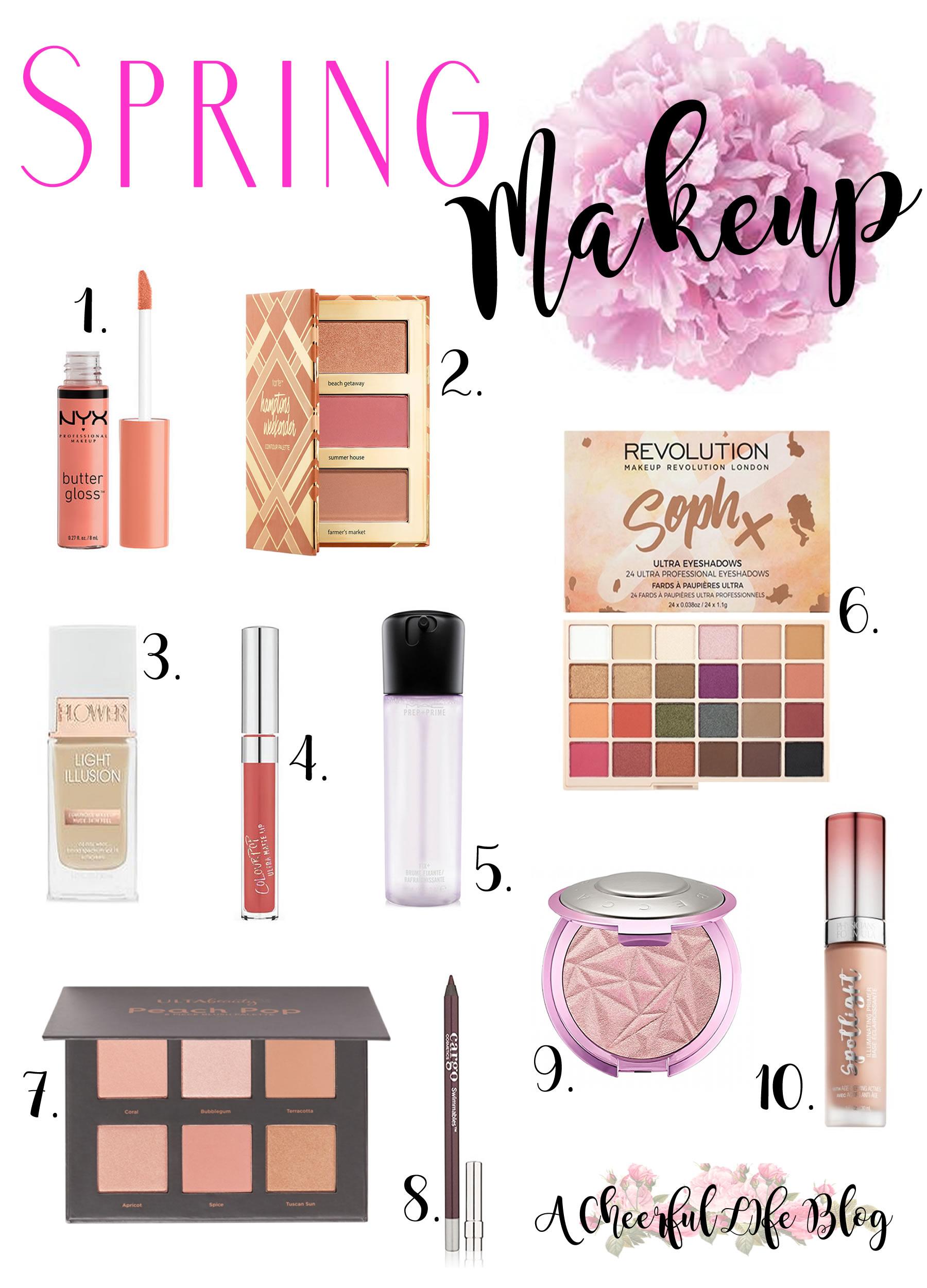 Spring Makeup A cheerful life blog
