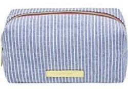 tartan & twine Chambray Travel Makeup Organizer Light Blue Stripe.jpg