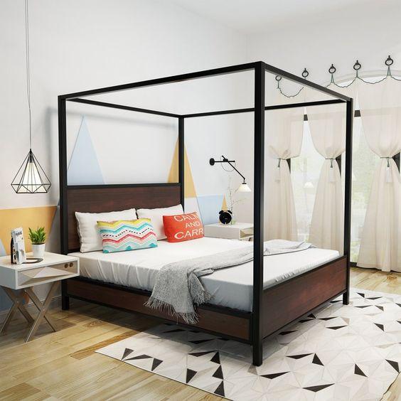 Chalkhill Bed Frame, Walnut - Wayfair