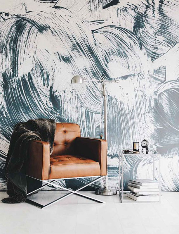 Paint Strokes Mural