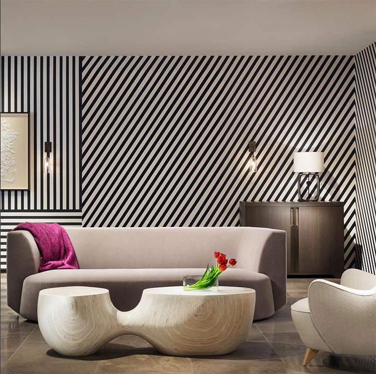The Holly Hunt Showroom in Chicago featuring stripes for Neocon 2017