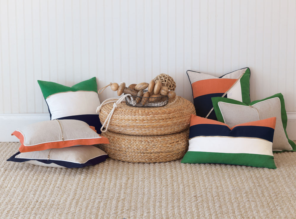 Sarah Montgomery Design Product Design Color Blocked Pillows