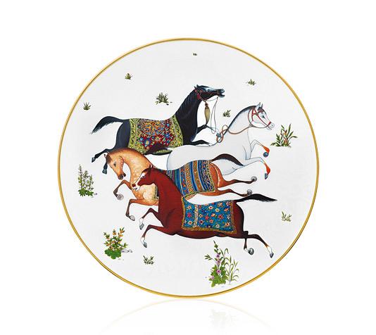 Hermes Cheval d'Orient Salad Plate