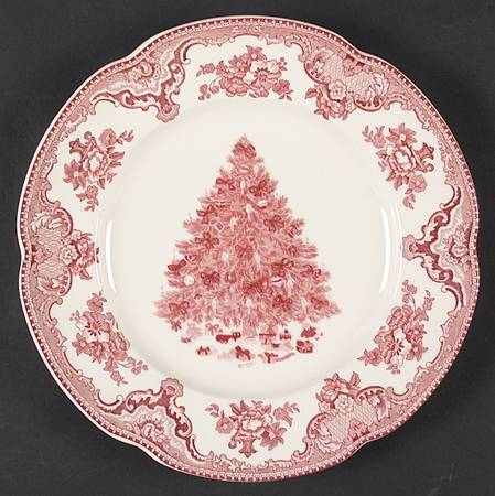 Johnson Brothers Old Britain Castles in Pink Christmas Plate