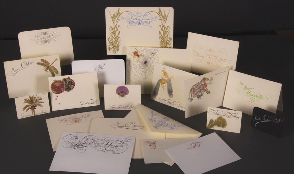 Bernard Maizner Bespoke Artwork Showing Adair Note Card with Custom Calligraphy