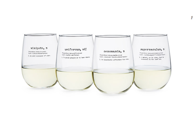Life by Definition Wine Glasses by Uncommon Goods