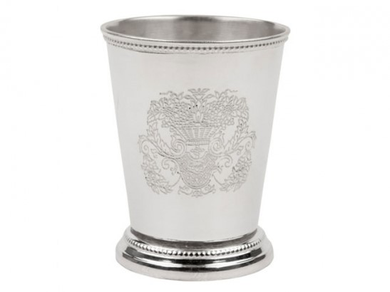 Large Embossed Mint Julep Cup from The Enchanted Home