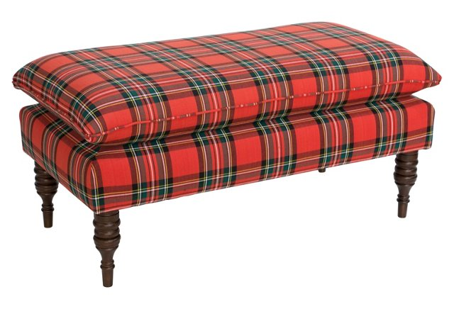 Eva Pillow Top Tartan Plaid Bench from One Kings Lane