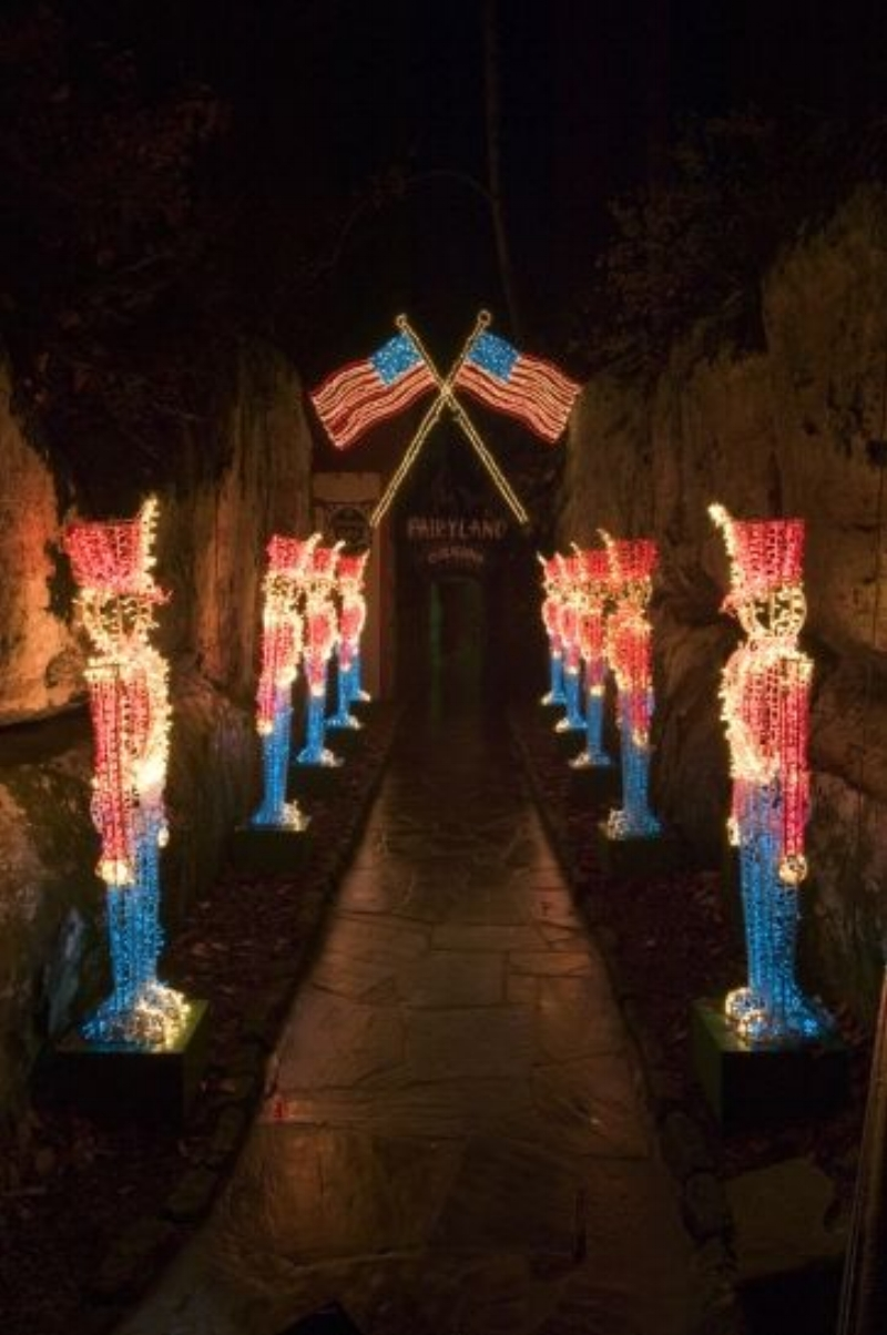 Visit the Rock City Gardens Enchanted Garden of Lights through December 31st from 6:00 to 9:00 p.m. (Closed Christmas Eve night)