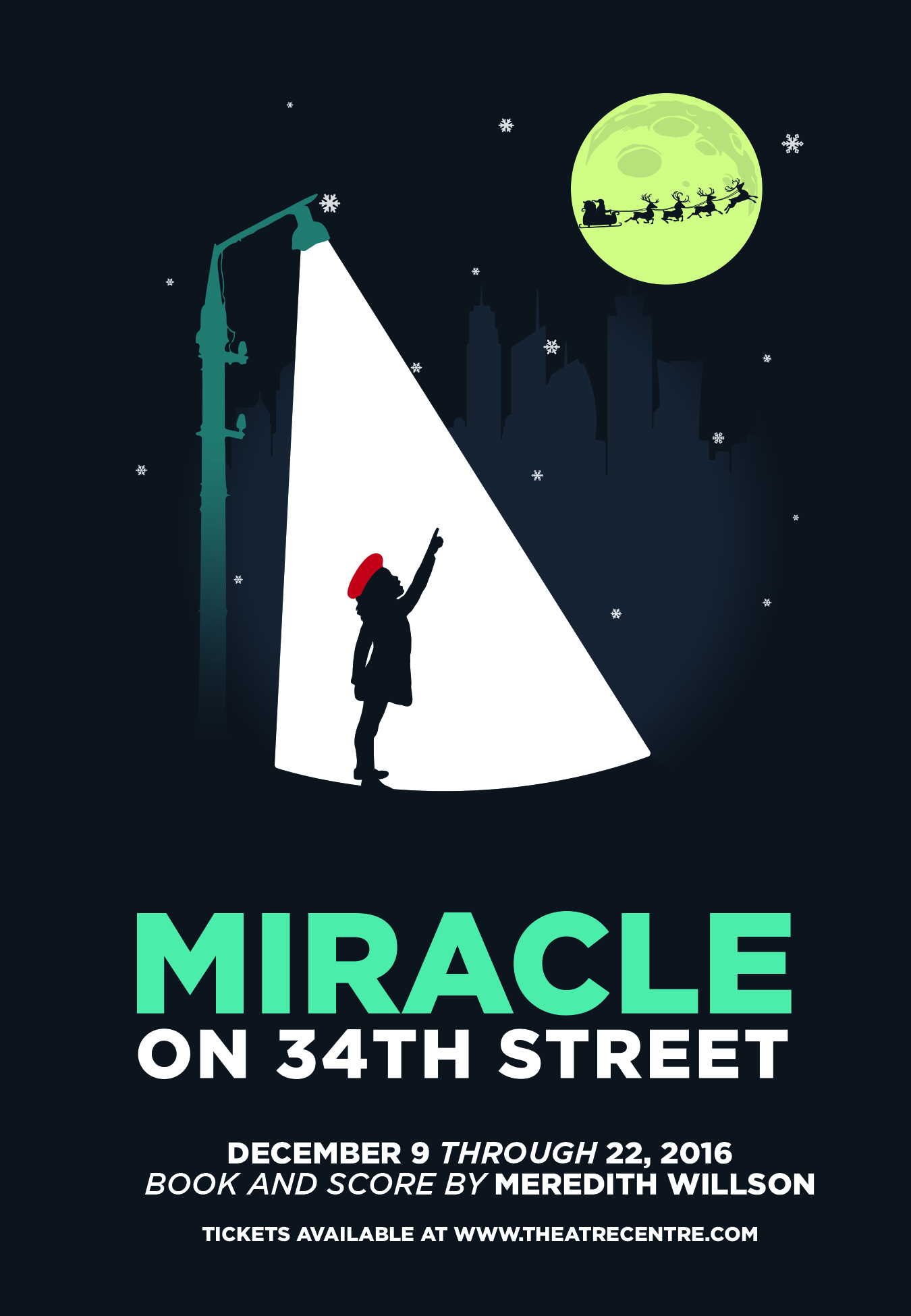 The Chattanooga Theatre Center's Miracle on 34th Street through December 23rd