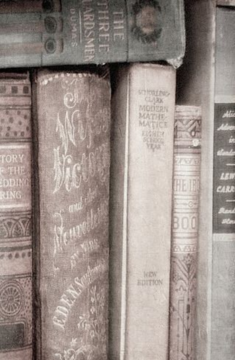 Vintage Books in Shades of Taupe, Champagne and Silver via Pinterest