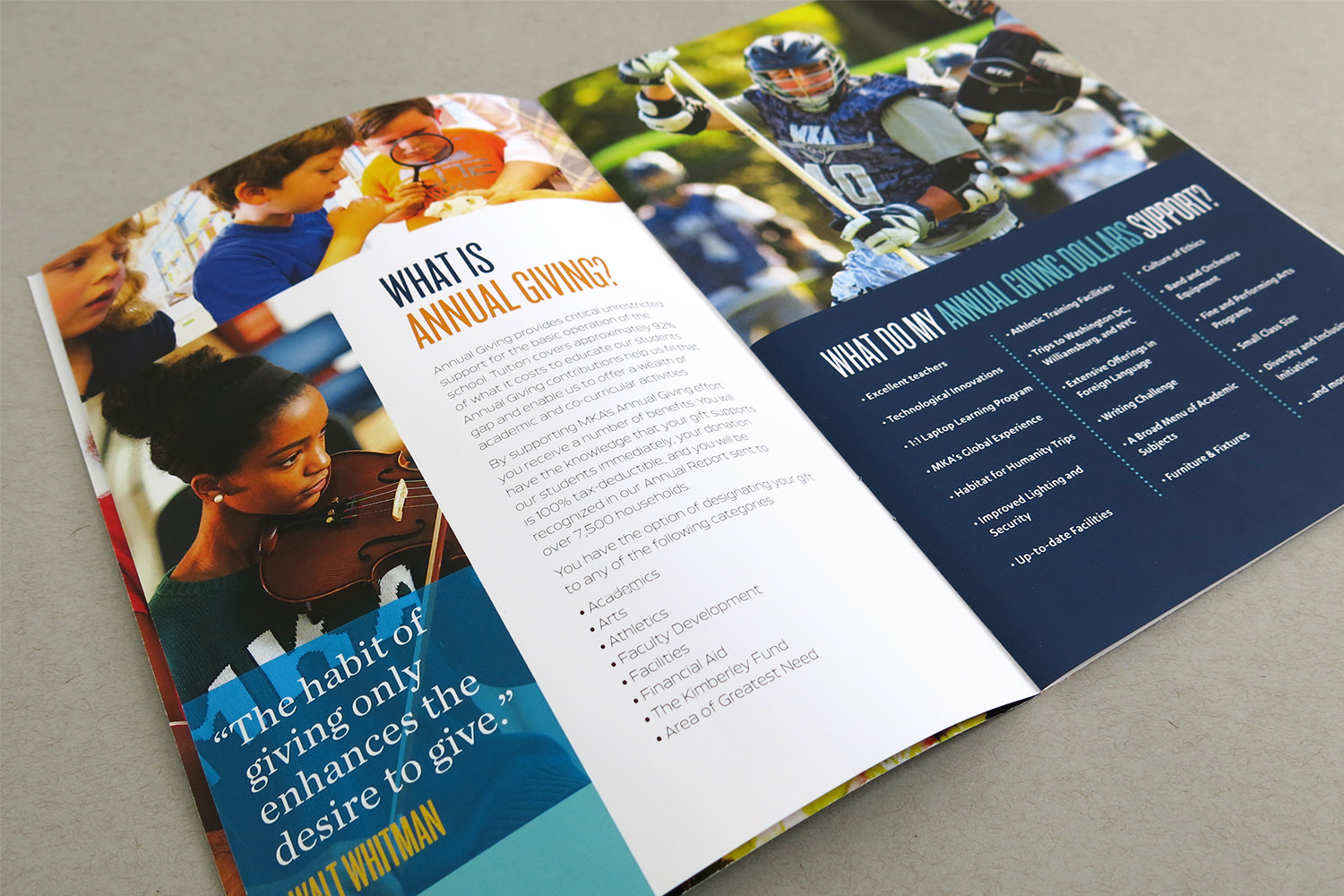 Montclair Kimberley Academy Annual Giving Brochure