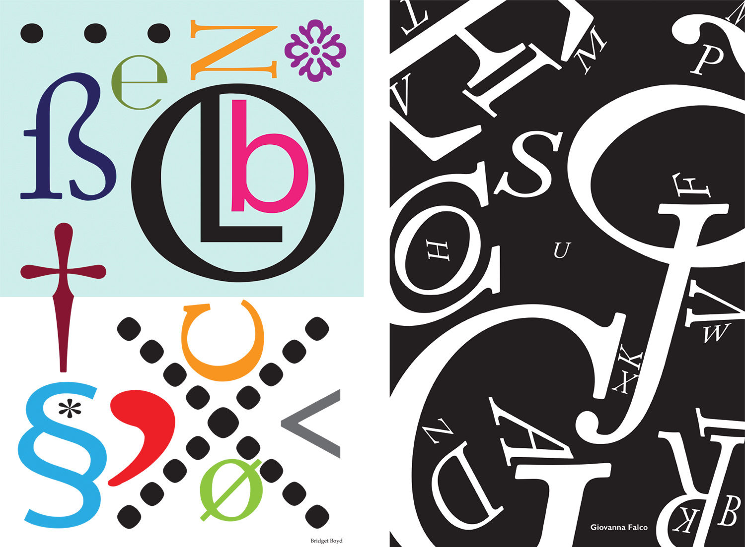 Type Posters by Bridget Boyd and Giovanna Falco