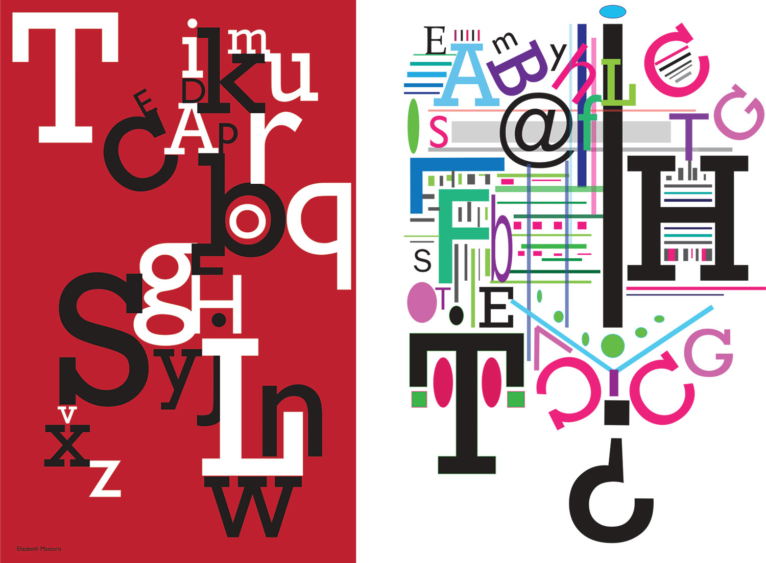 Type Posters by Elizabeth Mastoris