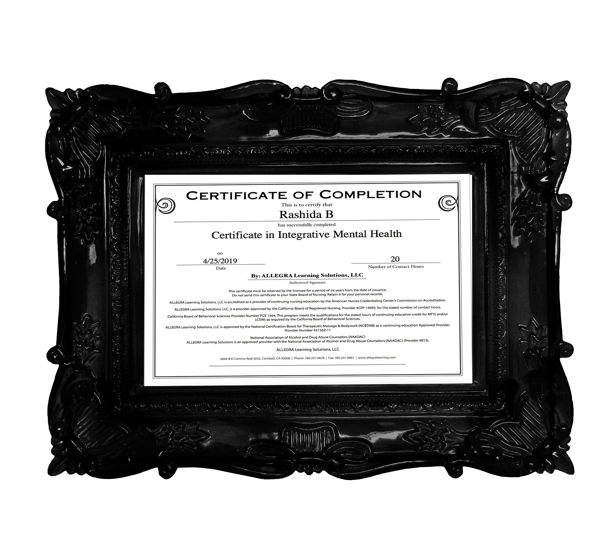 Integrative Mental Health Certificate