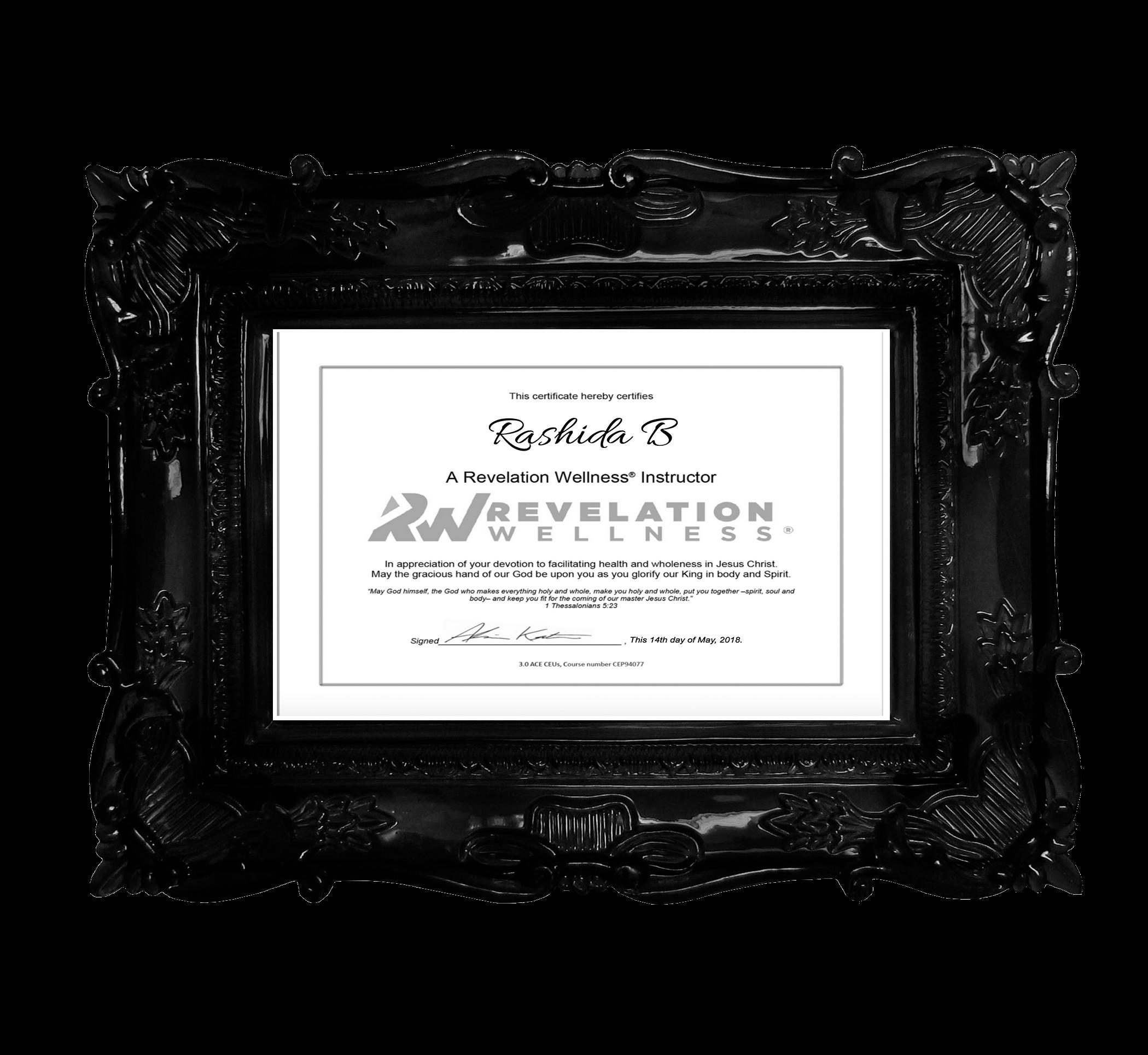 Revelation Wellness Certification