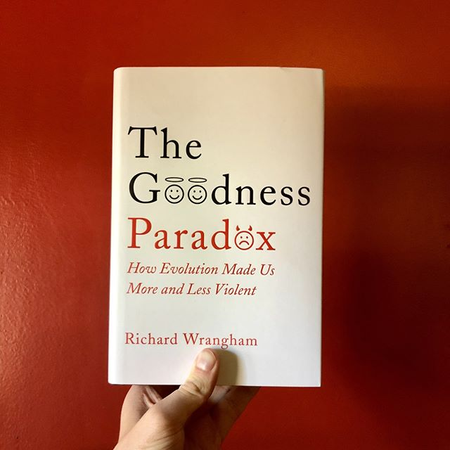 The Goodness Paradox written by Richard Wrangham is a fascinating new analysis of human violence, filled with fresh ideas and gripping evidence from our primate cousins, historical forebears, and contemporary neighbours. #planetbooks ⁠