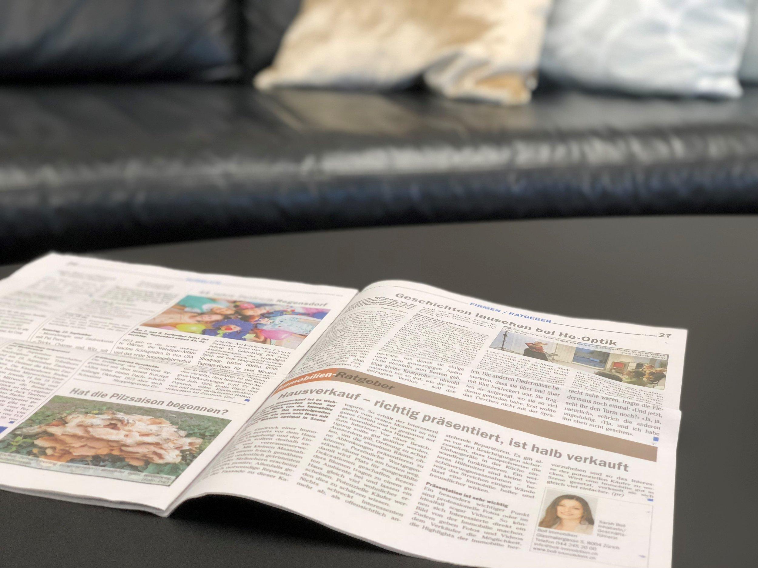 Immo-Ratgeber Boll Immobilien Verkauf Zürich und Zug