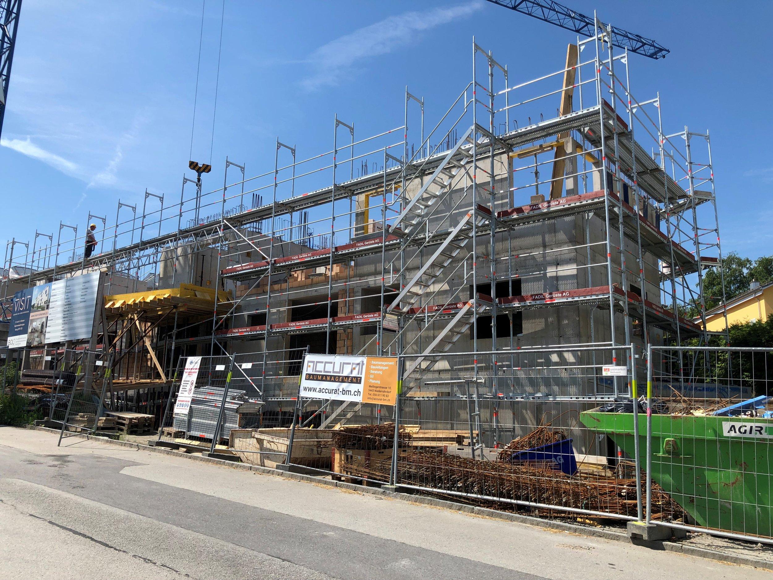 VISIT - Baustelle Neubauprojekt Boll Immobilien Immobilie verkauft Richterswil