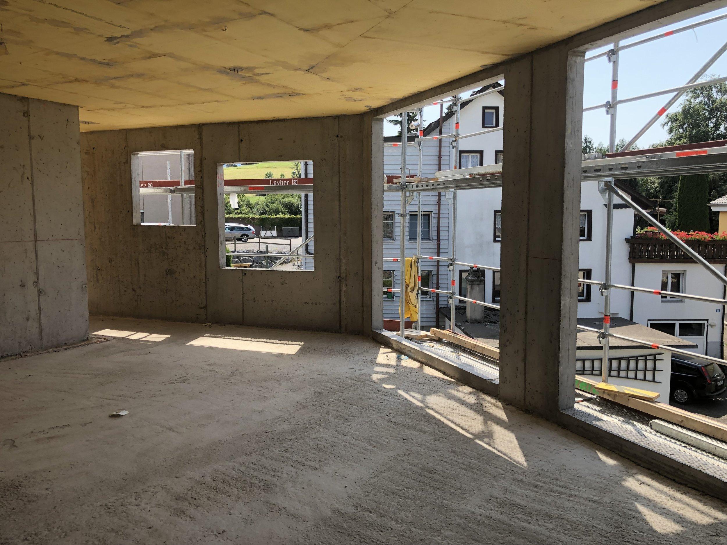 Überbauung VISIT Richterswil Zürich Neubauprojekt Baustelle Baufortschritt Seeblick Zürichsee