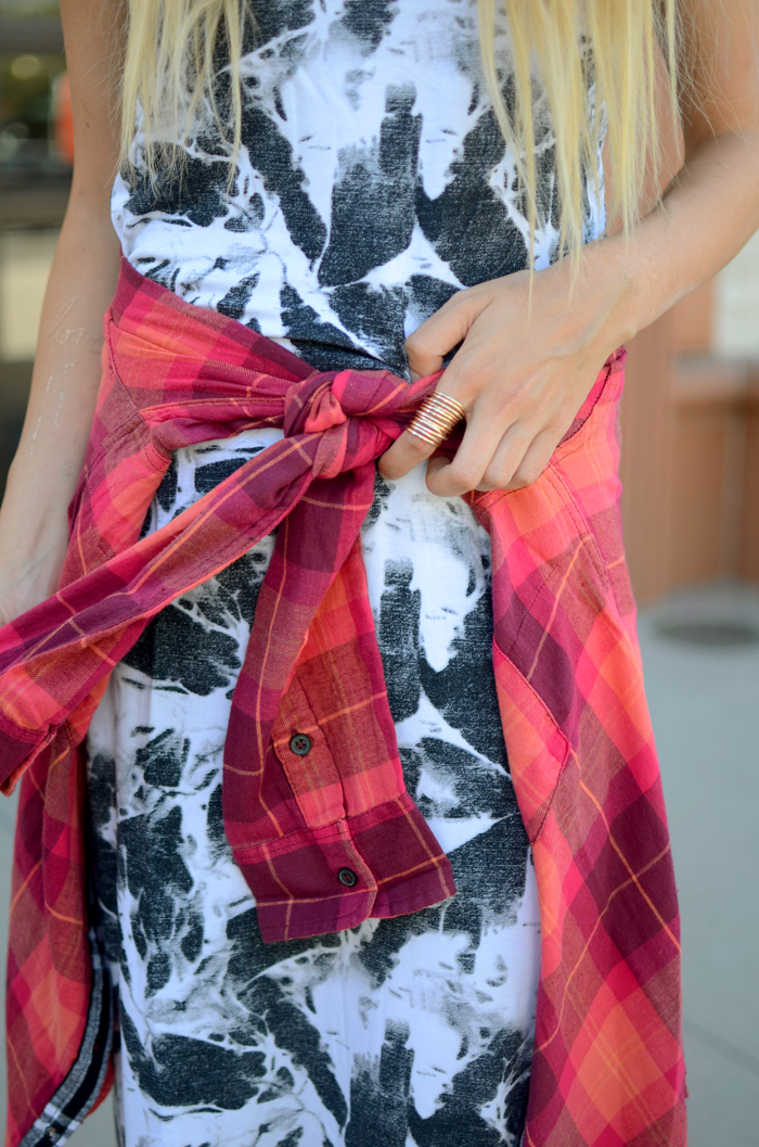 layered plaid shirt